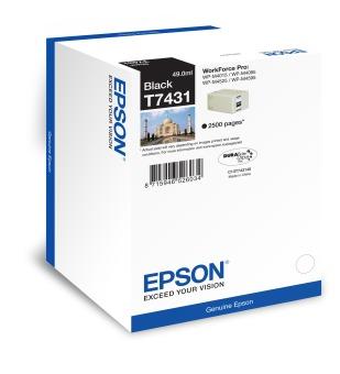 Originální lahev s inkoustem Epson T7431 (Černá)