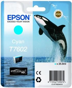 Originální cartridge EPSON T7602 (Azurová)
