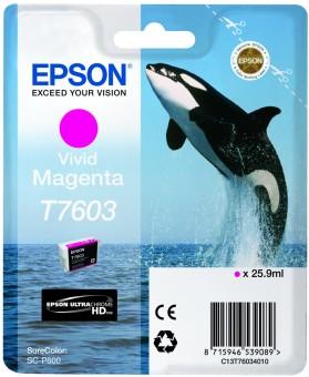 Originální cartridge Epson T7603 (Živě purpurová)