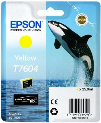 Originální cartridge EPSON T7604 (Žlutá)