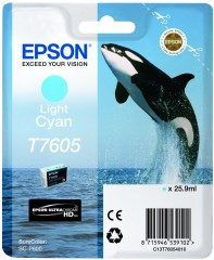 Cartridge do tiskárny Originální cartridge EPSON T7605 (Světle azurová)