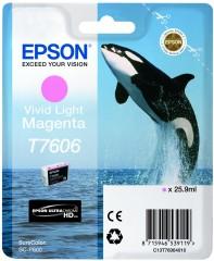 Cartridge do tiskárny Originální cartridge Epson T7606 (Živě světle purpurová)