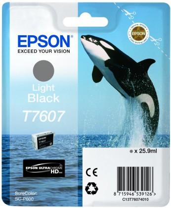 Originální cartridge Epson T7607 (Světle černá)