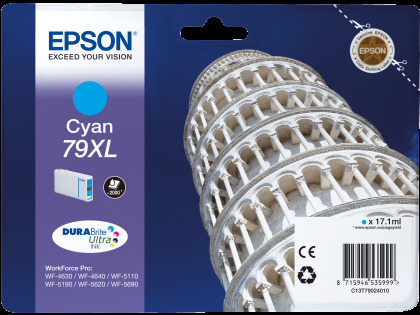 Originální cartridge EPSON T7902 (Azurová)