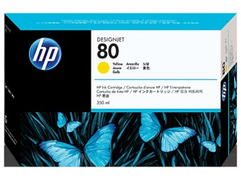 Originální cartridge HP č. 80 (C4848A) (Žlutá)