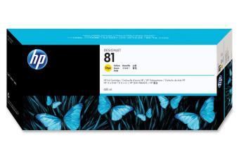 Originální cartridge HP č. 81 (C4933A) (Žlutá)