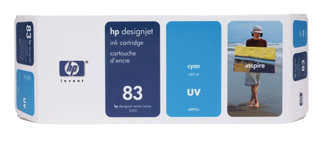 Originální cartridge HP č. 83 (C4941A) (Azurová)
