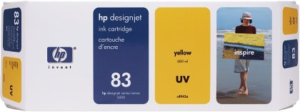 Originální cartridge HP č. 83 (C4943A) (Žlutá)