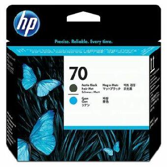 Originální tisková hlava HP č. 70 (C9404A) (Matně černá, azurová)