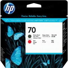 Cartridge do tiskárny Originální tisková hlava HP č. 70 (C9409A) (Matná černá, červená)