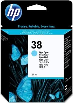 Originální cartridge HP č. 38 (C9418A) (Světle azurová)