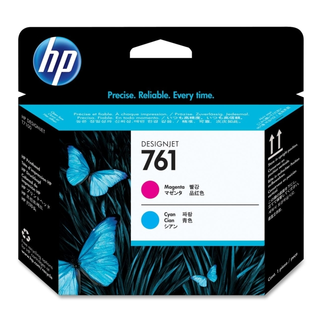 Originální tisková hlava HP č. 761 (CH646A) (Azurová, purpurová)