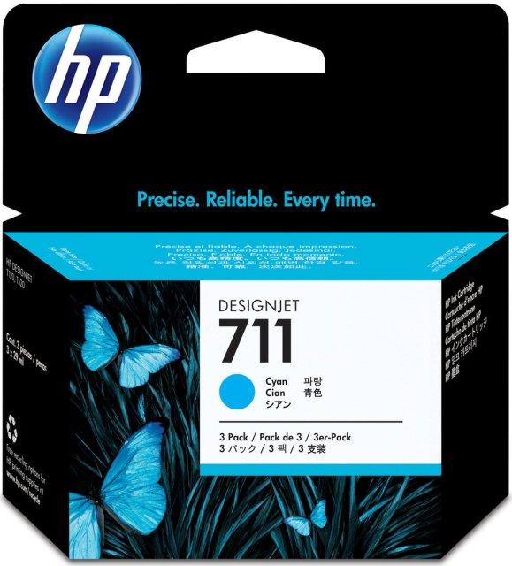 Originální cartridge HP č. 711 (CZ134A) (Azurová)