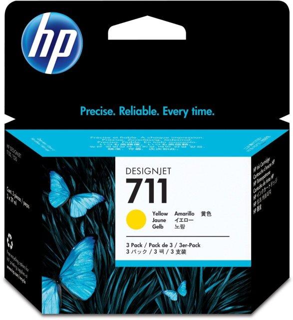 Originální cartridge HP č. 711 (CZ136A) (Žlutá)