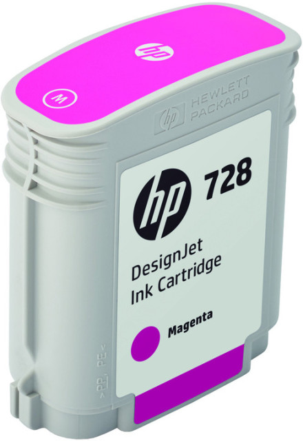 Originální cartridge HP č. 728 (F9J62A) (Purpurová)
