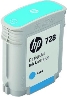 Originální cartridge HP č. 728 (F9J63A) (Azurová)