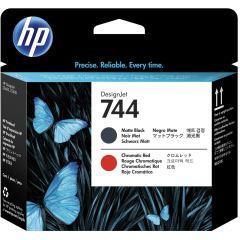Cartridge do tiskárny Originální tisková hlava HP č. 744 (F9J88A) (Matná černá, chromatická červená)