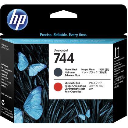 Originální tisková hlava HP č. 744 (F9J88A) (Matná černá, chromatická červená)