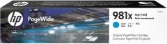 Cartridge do tiskárny Originální cartridge HP č. 981X (L0R09A) (Azurová)