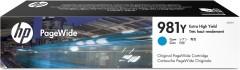 Cartridge do tiskárny Originální cartridge HP č. 981Y (L0R13A) (Azurová)