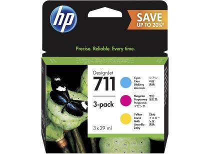 Sada originálních cartridge HP č. 711 (P2V32A)