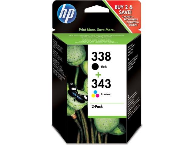 Sada originálních cartridge HP č. 338 a 343 (SD449EE)