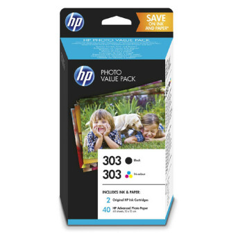 Sada originálních cartridge HP č. 303 (Z4B62EE) + fotopapír