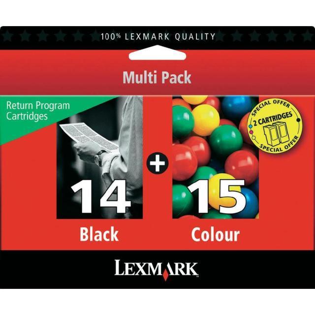 Sada originálních cartridge Lexmark 14 a 15 (80D2979)