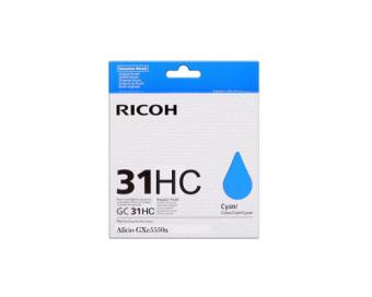 Originální cartridge Ricoh 405702 (GC-31 HC) (Azurová)