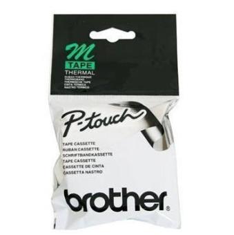 Originální páska Brother TM-K231, 12mm, černý tisk na bílém podkladu, nelaminovaná