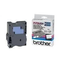 Originální páska Brother TX-243, 18mm, modrý tisk na bílém podkladu