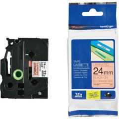 Originální páska Brother TZE-B51, 24mm, černý tisk na signálně oranžovém podkladu