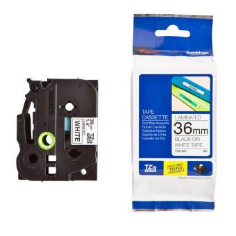 Originální páska Brother TZE-261, 36mm, černý tisk na bílém podkladu