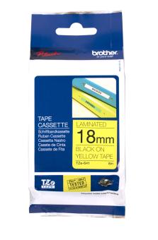 Originální páska Brother TZE-641, 18mm, černý tisk na žlutém podkladu