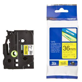 Originální páska Brother TZE-661, 36mm, černý tisk na žlutém podkladu