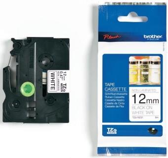 Originální páska Brother TZE-N231, 12mm, černý tisk na bílém podkladu