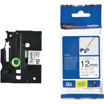 Originální páska Brother TZE-FX231, 12mm, černý tisk na bílém podkladu, flexibilní