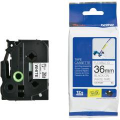 Originální páska Brother TZE-FX261, 36mm, černý tisk na bílém podkladu, flexibilní