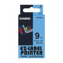 Originální páska Casio XR-9BU1, 9mm, černý tisk na modrém podkladu