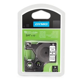 Originální páska DYMO 16958 (S0718050), 19mm, černý tisk na bílém podkladu, nylonová flexibilní