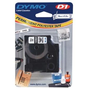 Originální páska DYMO 16960 (S0718070), 19mm, černý tisk na bílém podkladu, permanentní