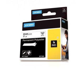 Originální páska DYMO 1734523, 24mm, černý tisk na bílém podkladu, permanentní polyesterová