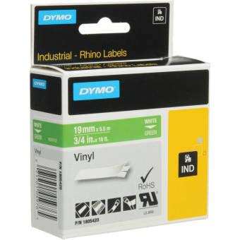 Originální páska DYMO 1805420, 19mm, bílý tisk na zeleném podkladu, vinylová