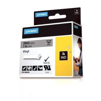 Originální páska DYMO 1805425, 24mm, černý tisk na šedém podkladu, vinylová