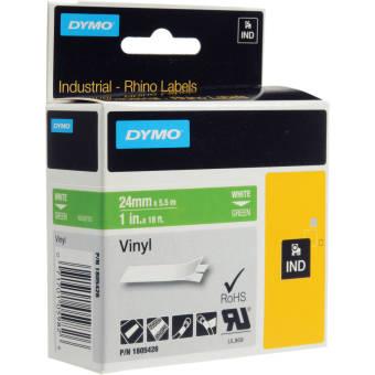 Originální páska DYMO 1805426, 24mm, bílý tisk na zeleném podkladu, vinylová