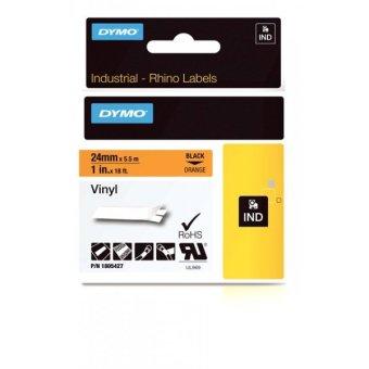 Originální páska DYMO 1805427, 24mm, černý tisk na oranžovém podkladu, vinylová