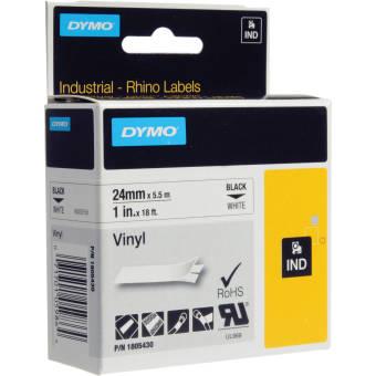 Originální páska DYMO 1805430, 24mm, černý tisk na bílém podkladu, vinylová