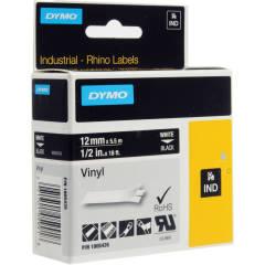 Originální páska DYMO 1805435, 12mm, bílý tisk na černém podkladu, vinylová