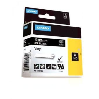 Originální páska DYMO 1805436, 19mm, bílý tisk na černém podkladu, vinylová