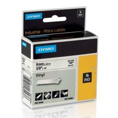 Originální páska DYMO 18443 (S0718580), 9mm, černý tisk na bílém podkladu, vinylová